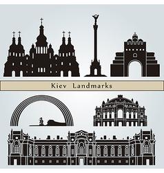 Kiev landmarks and monuments vector image