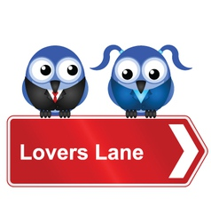 LOVERS LANE vector image vector image