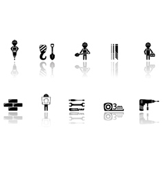 set of construction icons with tools vector image vector image