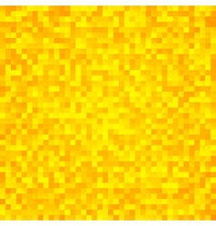 Abstract yellow pixel mosaic seamless background vector image