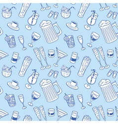 Drinks seamless background vector