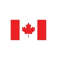 flat icon on white background flag of Canada vector image vector image