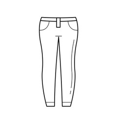 jeans line icon vector image