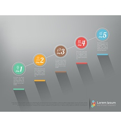 Modern business step by step infographic template vector