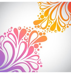 Rainbow floral invitation postcard vector image vector image