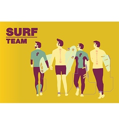 Surf team cover design vector image