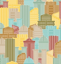 Urban seamless pattern Colorful buildings in city vector image vector image