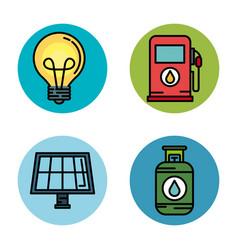 energy resources design vector image
