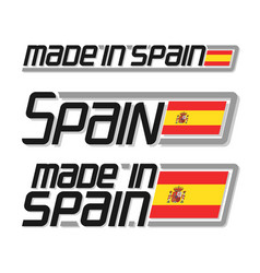 made in spain vector image vector image
