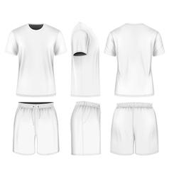 Men short sleeve t-shirt and sport shorts vector