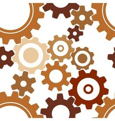 rusty cogwheel pattern vector image vector image