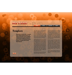 web orange template with circles background vector image