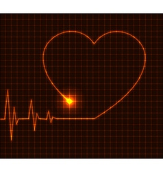 Abstract heart cardiogram - vector image