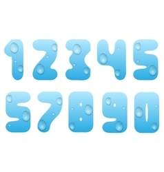 Blue water numbers vector image vector image