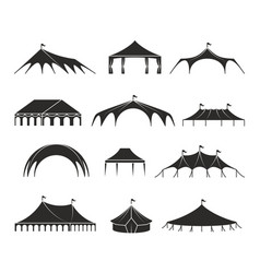 outdoor shelter tent event pavilion tents vector image vector image