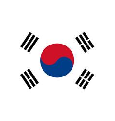 south korea flag vector image vector image