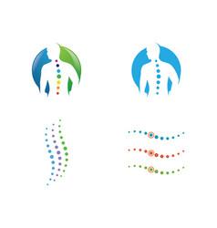 spine diagnostics symbol design vector image