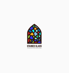 stained glass logo vector image vector image
