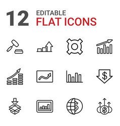 12 stock icons vector