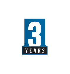 3 years anniversary icon birthday logo vector image