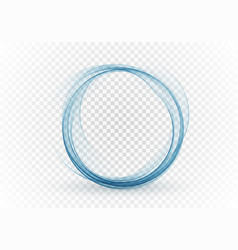 Abstract swirl energy circle blue element design vector
