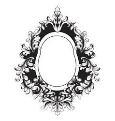 Baroque vintage frame decor design element vector