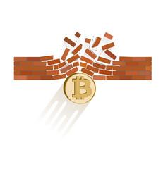 Bitcoin coin breaks through the wall resistance vector