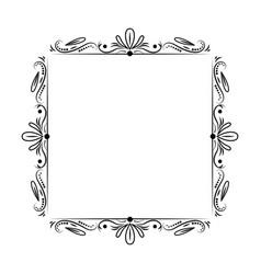 Black classic outline frame vector