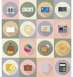 business and finance flat icons 19 vector image