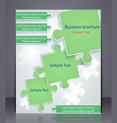 Business brochure with elements of puzzles vector