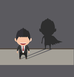 business power concept businessman standing in vector image
