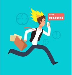 businessman running race rushing worker vector image