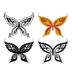 Butterflies with abstract pattern vector