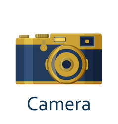 camera isolated on the white background vector image