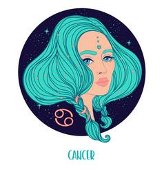 Cancer astrological sign as a vector
