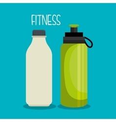 Cartoon bottles water sport elements design vector