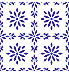 Ceramic tile pattern seamless porcelain decor vector