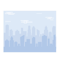 city scape silhouette background downtown vector image