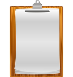 Clip board with paper blank vector