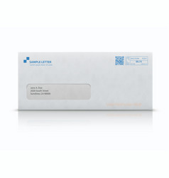 closed white envelope vector image