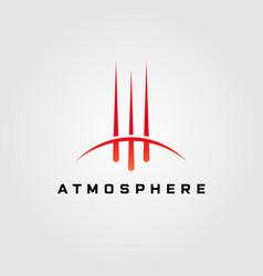 Comet atmosphere logo design vector