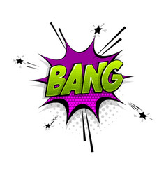 comic text bang speech bubble pop art style vector image