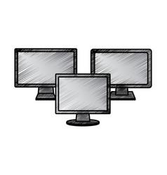 computer monitors icon image vector image