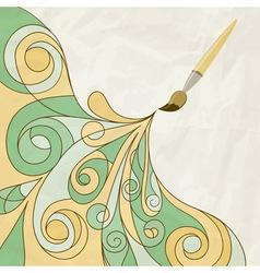 concept cartoon brush vector image