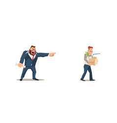 dismissed loss job vector image
