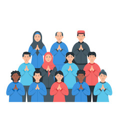 Diverse groups people vector