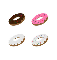 Doughnut graphic element design template vector