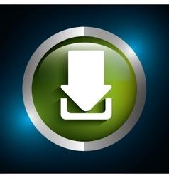 Download icon button vector