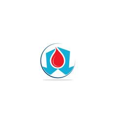 Droplet blood logo vector