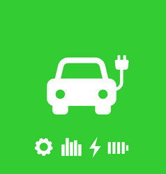 electric car ev icon vector image